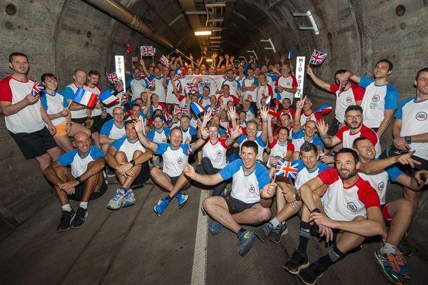 La société Getlink a organisé jeudi 28 novembre une course à l'intérieur du Tunnel sous la Manche.