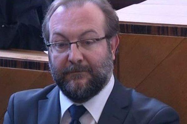 Gérard Dalongeville lors de cette première journée de procès au tribunal correctionnel de Béthune.