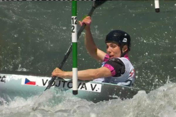 La Béarnaise Marie-Zelia Lafont aux Championnats d'Europe de canoë-Kayak à Pau. (31/05/2019)