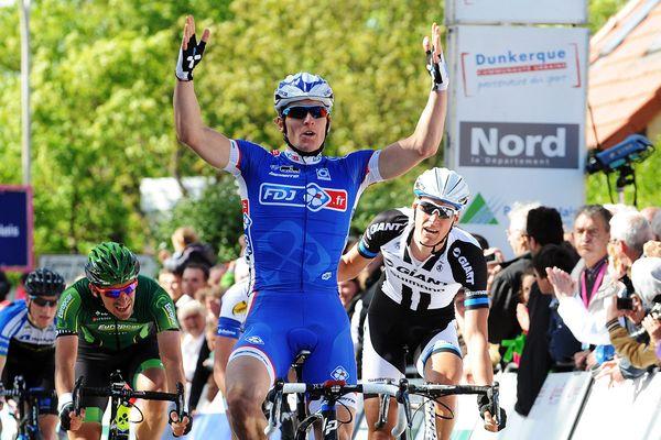Arnaud Démare lors de sa 2e victoire aux 4 Jours de Dunkerque en 2014