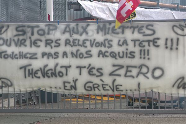 <p>Le site de GE Belfort Turbines Gaz est bloqué.&nbsp;</p>