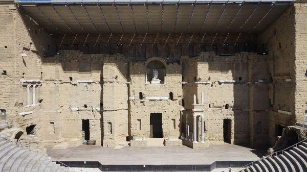 Le théâtre antique d'Orange en septembre 2019