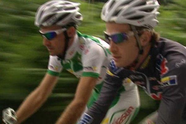 Maxime Médérel et Theo Vimpère se sont entraîné ce matin dans la région avant de commencer le tour dès demain.