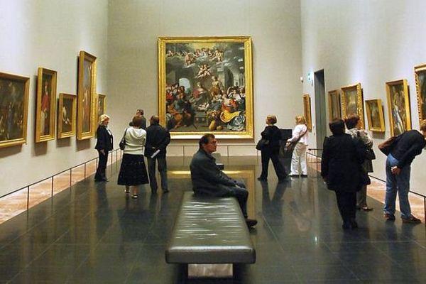 Montpellier - une salle d'exposition du musée Fabre - archives