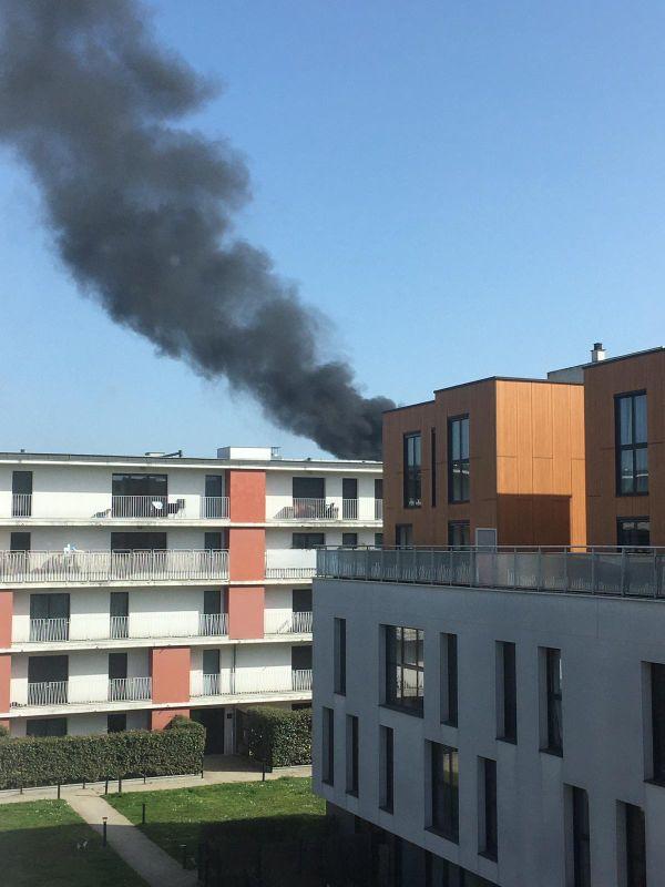 Un incendie s'est déclaré dans un immeuble en construction ce lundi 1er mars dans le quartier des Chartrons à Bordeaux.