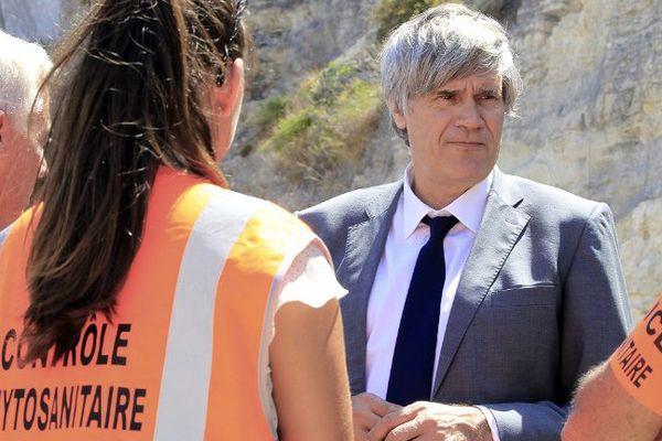 Le ministre de l'Agriculture, Stéphane Le Foll en visite en Corse en juillet 2015.