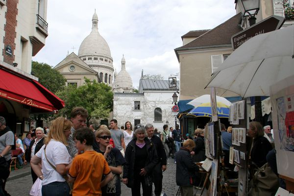 La place du Tertre, à Montmartre, à Paris.