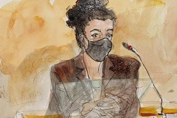 La dessinatrice Coco le 8 septembre 2020, lors de son audition au procès des attentats de janvier 2015.