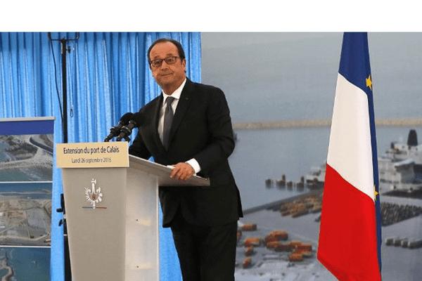 François Hollande à Calais ce lundi 26 septembre 2016.