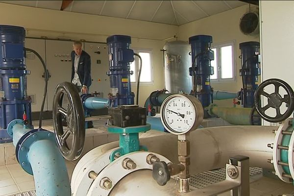 La station de captage d'eau à Nort sur Erdre, en Loire-Atlantique