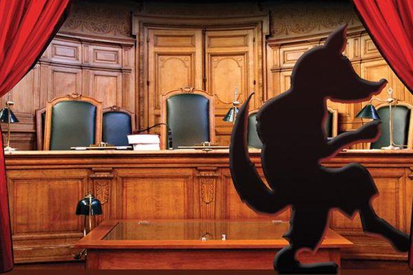"""Affiche du """"faux"""" procès du loup le 12 septembre 2015 à Florac sur la webtv teledraille des Cévènnes"""