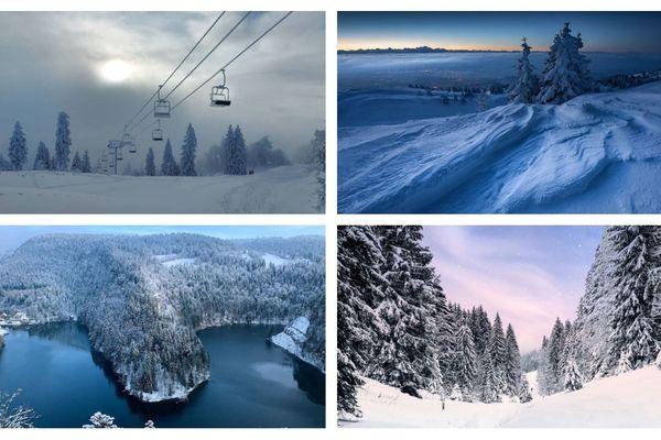La Franche-Comté sous la neige (hiver 2021).