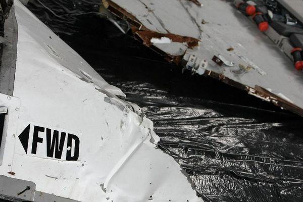 Des débris de l'avion d'Air France, retrouvé dans l'océean atlantique, le 12 juin 2019.