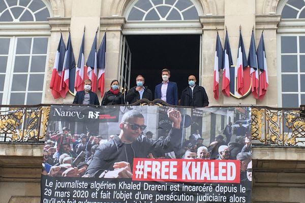 """Après Paris, c'est au tour de Nancy d""""exprimer sa solidarité envers le journaliste algérien Khaled Drareni, condamné le 15 septembre dernier à deux ans de prison ferme."""