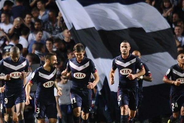 Les girondins après leur victoire 4 buts à 1 contre Monaco