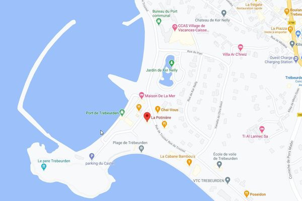La carte du site de la Potinière à Trebeurden