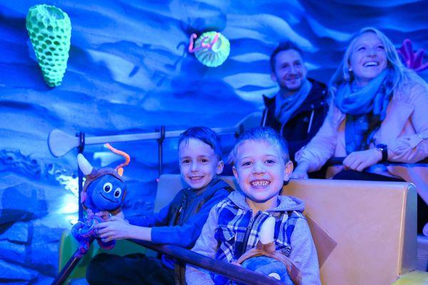 Premier départ dans l'attraction Snorri Tauren, inaugurée le 22 octobre à Europa-Park.