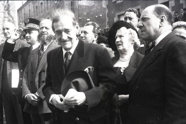 Le peintre Maurice Utrillo à Bessines (87) le 2 octobre 1949