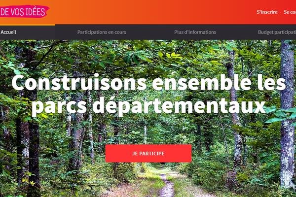 Capture du site ateliersdevosidees.loiret, où sont rassemblées informations et propositions soumises au budget participatif.