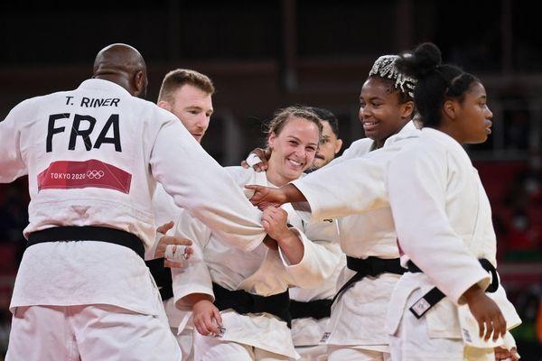 Margaux Pinot a été décisive dans la course au titre pour l'équipe de France de judo.