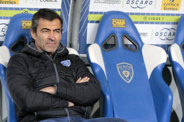 L'entraîneur du SC Bastia, le Portugais Rui Almeida.