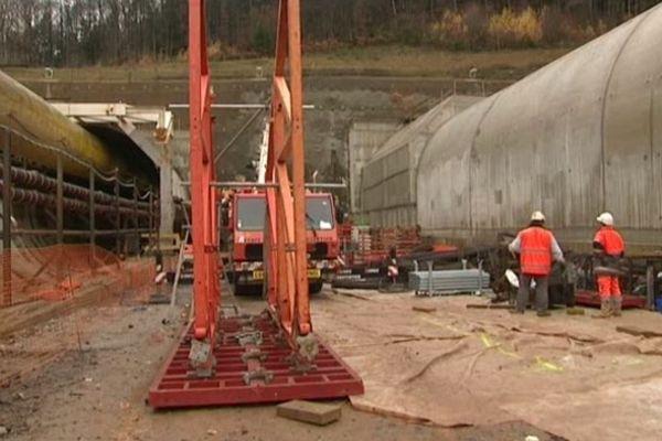 Le tunnel de Saverne en construction