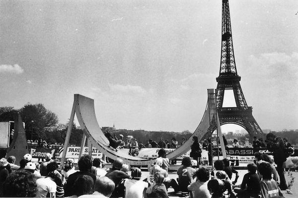 Un compétition au Trocadéro, en avril 1978.