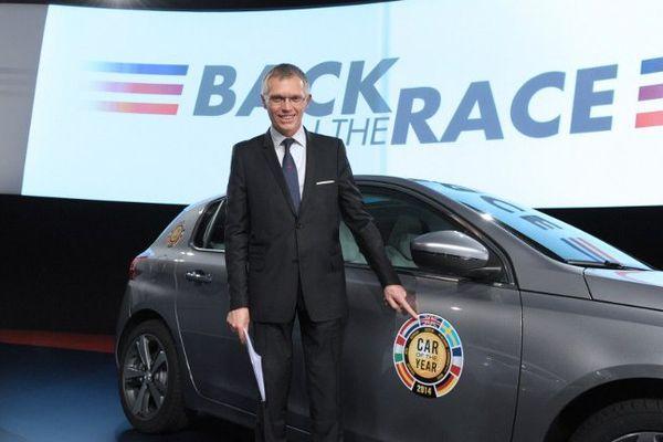 """Carlos Tavares lors du lancement du plan """"Back in the race"""" le 14 avril 2014"""