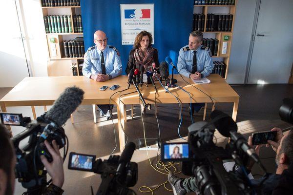 Archives 20 décembre 2019. Conférence de presse de la procureure de Lorient Laureline Peyrefitte sur l'affaire Joël le Scouarnec.