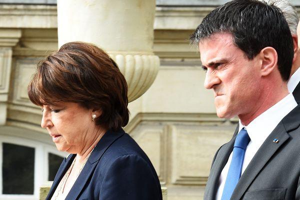 Martine Aubry et Manuel Valls à Lille en mars 2015.