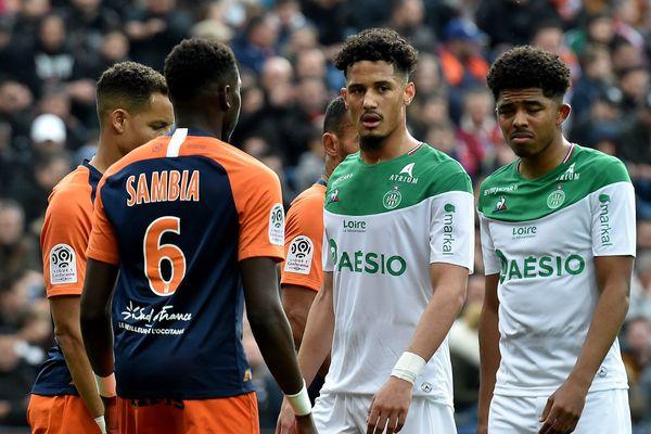 24ème journée du championnat de France de Ligue 1 au stade de la Mosson : Montpellier bat l'AS Saint-Etienne 1-0 -09/02/20