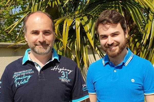 David et Matthieu Monserand ont créé un site pour soutenir les petits commerçants autour de Chantilly et Senlis, dans l'Oise.