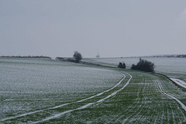 Neige à Coyecques (Pas-de-Calais) en 2019
