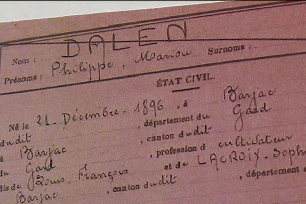 Les commémorations autour de l'armistice sont aussi l'occasion de révéler des histoires oubliées.A Barjac au nord-est du Gard, un nouveau nom figure sur le monument aux morts...Celui d'un jeune soldat de 19 ans fusillé pour l'exemple en 1916.