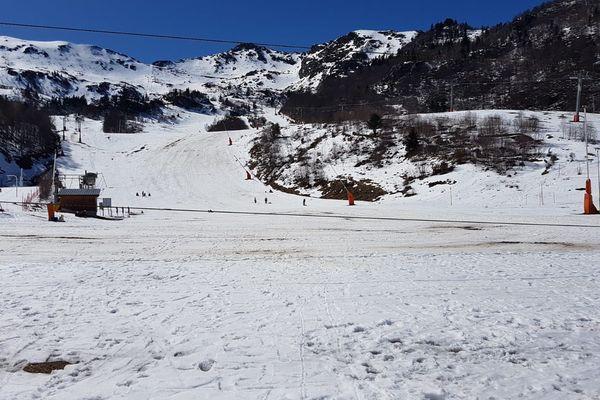 La station des Monts d'Olmes ce dimanche 15 mars au matin.