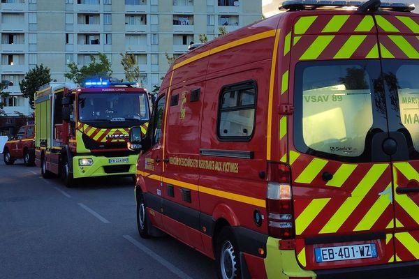 Intervention des marins-pompiers de Marseille, le jour du sinistre