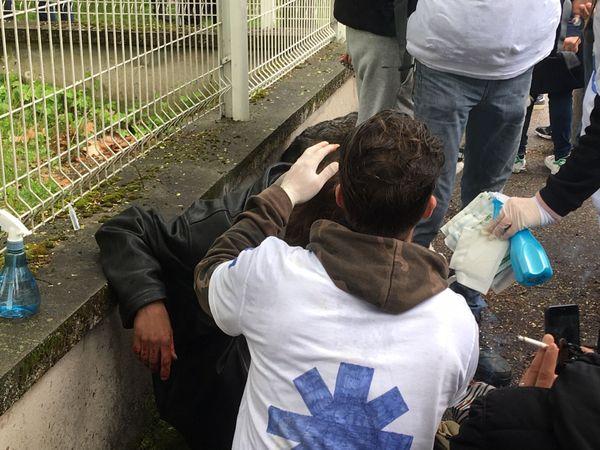 Un homme a été blessé au front lors de la manifestation