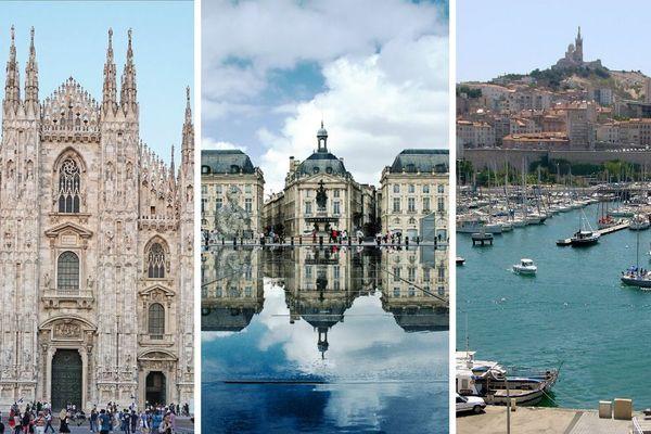 Milan, Bordeaux ou Marseille, trois nouvelles destinations à moins d'une heure trente de la capitale alsacienne