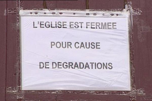 L'église de Lure est fermée pour cause de porte fracturée