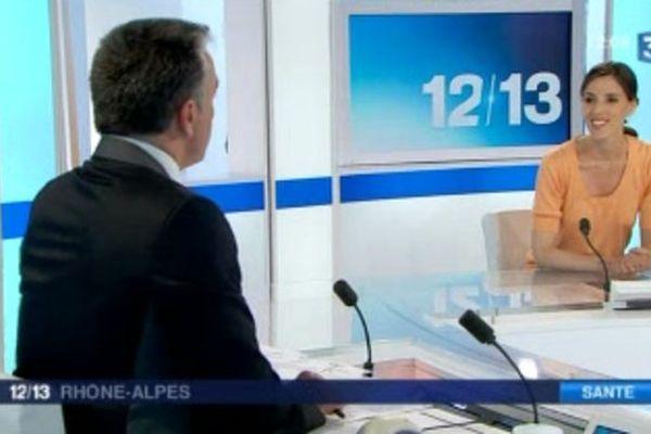 Le Dr Claire Billioud, invitée du 12/13 Rhône-Alpes, pour évoquer l'hémochromatose - 31/05/13