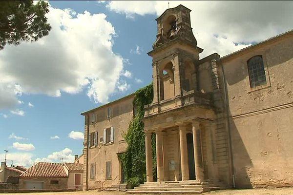 Le temple protestant de Gallargues-le-Montueux dans le Gard, reconstruit en 1813.