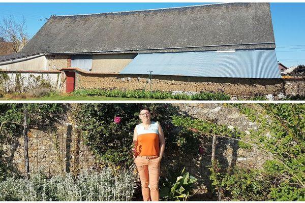 Brigitte Geslin (ci-dessous) espère pouvoir transformer cette grange de 350m2 (ci-dessus) en un habitat partagé pour seniors à Bouville, en Eure-et-Loir.