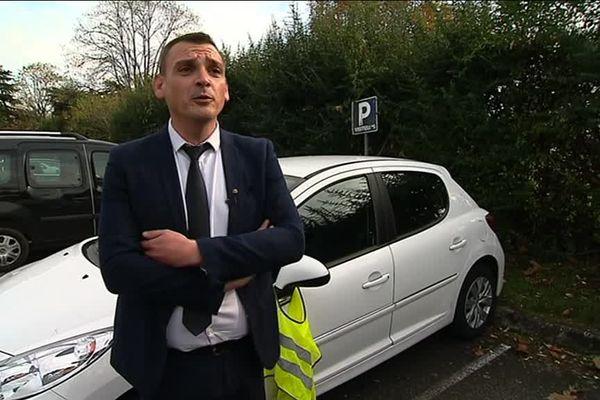 "Benjamin Cauchy. Porte-parole des ""gilets jaunes"" en Haute-Garonne"