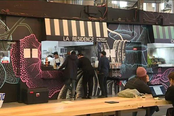 """Le restaurant """"La Résidence"""", au sein de Ground Control, dans le 12e arrondissement de Paris."""