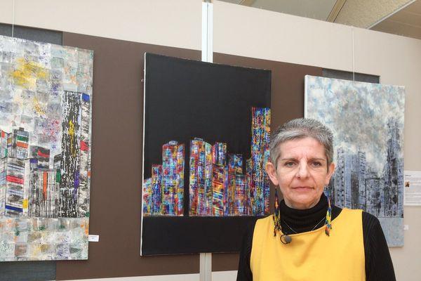 la peintre Anne Delaby présente des oeuvres radicalement différentes