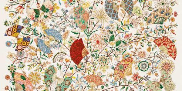 Fleurs et papillons de tissus : le carré de soie Hermès signé Christine Henry ©