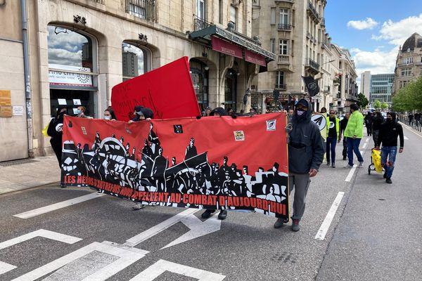 Manifestation citoyenne, sous le signe de la Commune de Paris, à Nancy, samedi 22 mai 2021.