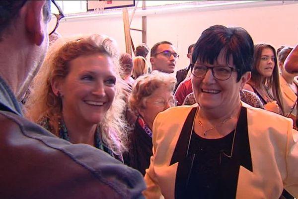 Sylvie Vermeillet, UDI, et Marie-Christine Chauvin, LR, les deux nouvelles sénatrices du Jura