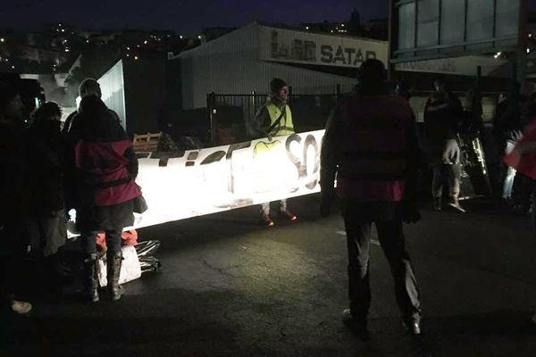 Blocage du dépôt de bus de Rodez