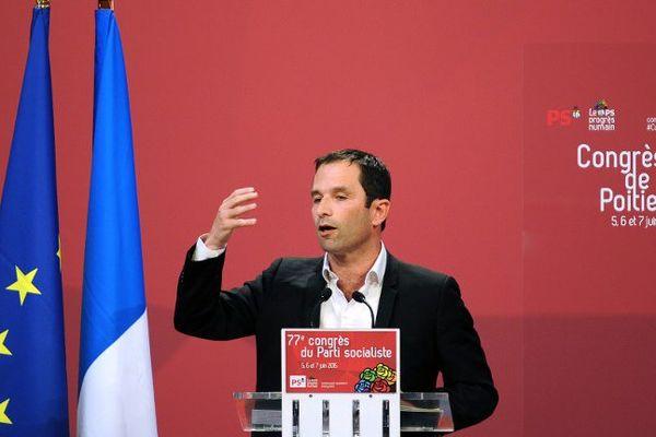 Benoît Hamon au Congrès de Poitiers en juin dernier